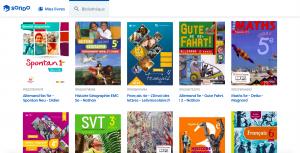 Extrait bibliothèque SONDO manuels audio et livres adaptés pour les dys